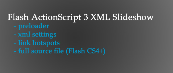 Flash AS3 XML SlideShow with Preloader and Link Hot Spots