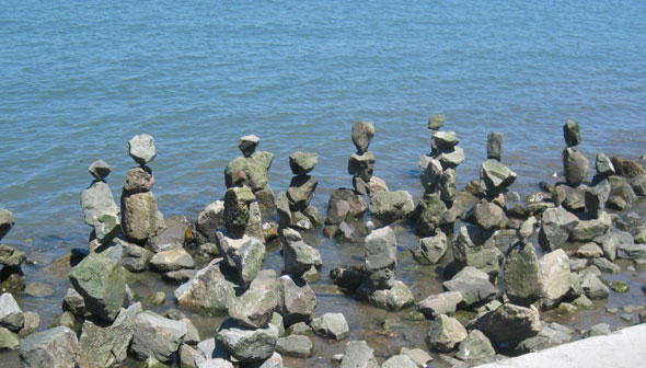 improbable rock stacking