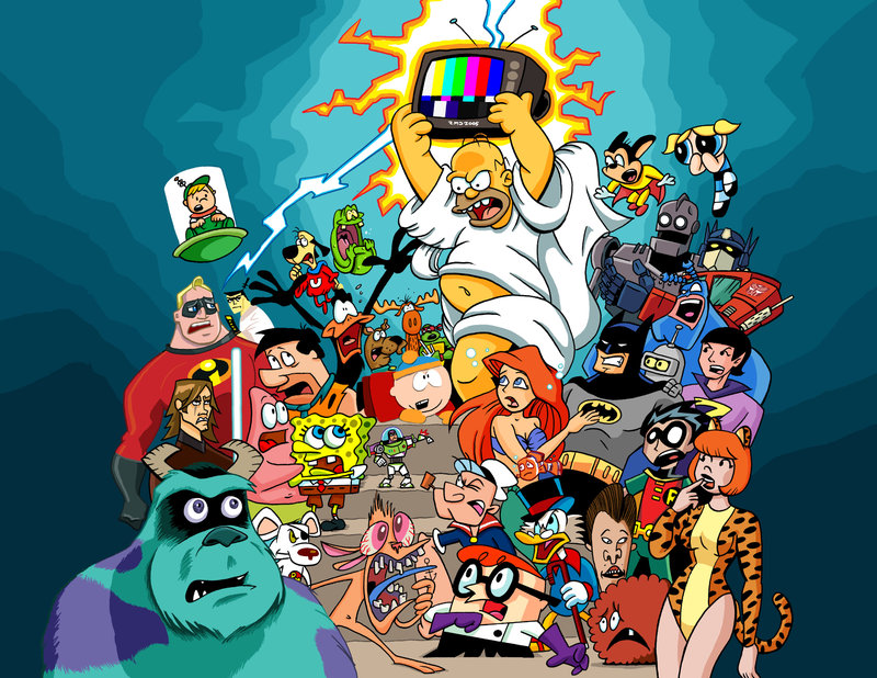 Cartoon characters from 80s and 90s by Dunlavey