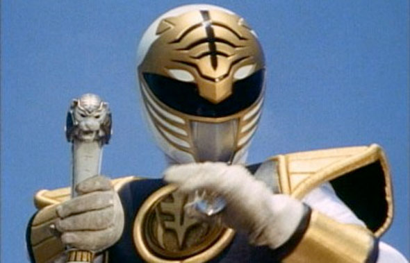 mighty morphin power rangers white ranger sword