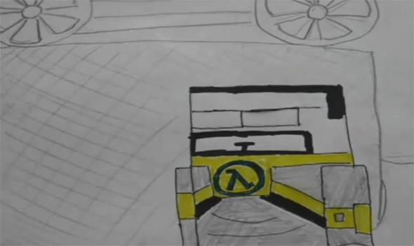 Papercraft Half-Life-2 video