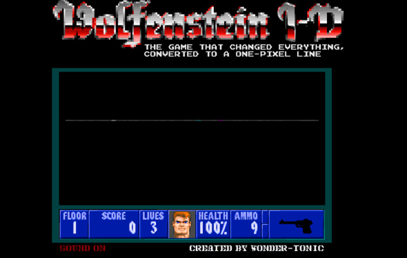 Wolfenstein 3D Converted to a 1-Pixel Line