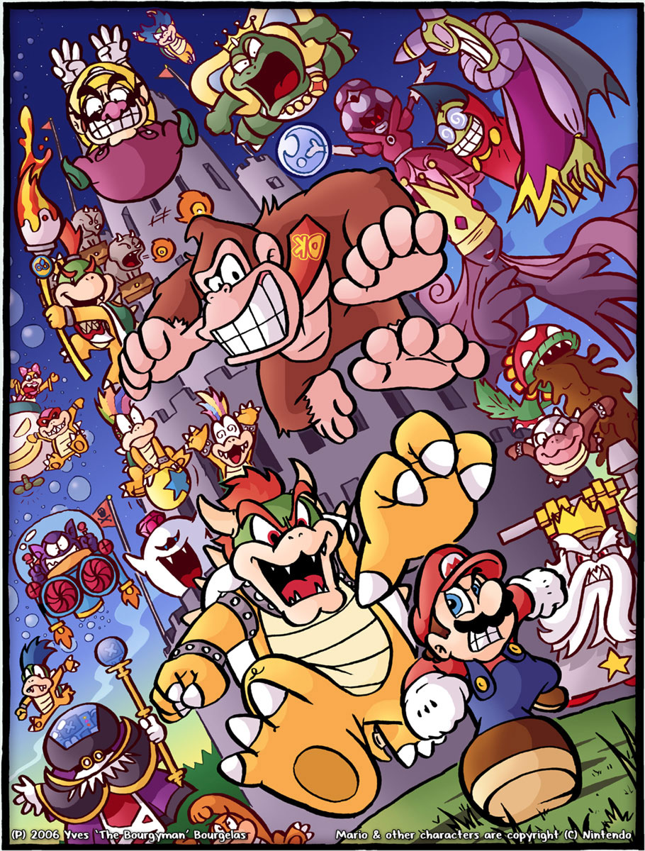 21 years of bosses mario by thebourgyman