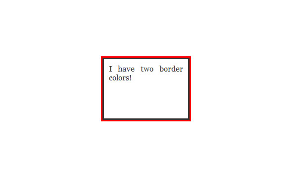How to make a CSS border with two different colors