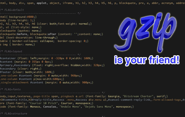 How to combine your separate CSS files into one using PHP and then compress the CSS with GZIP