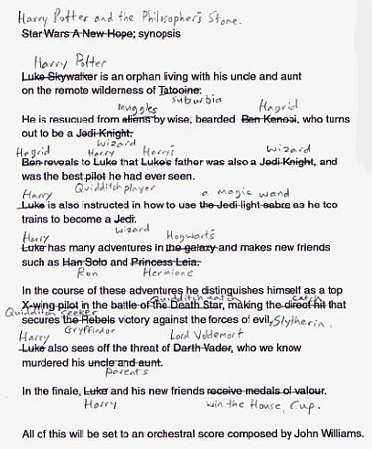 harry potter rips off star wars