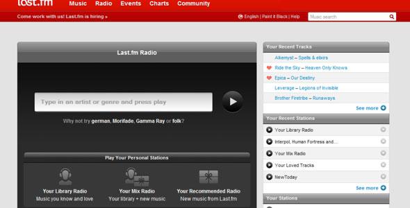 last fm radio page