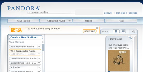 pandora radio station