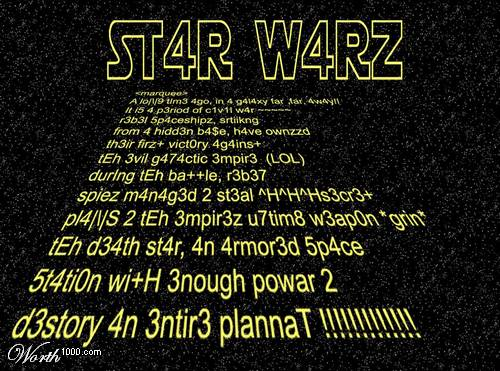 star wars credits l33t speak
