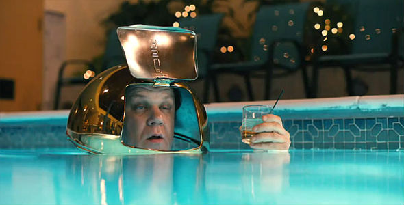 John C. Reilly drunk and exploring
