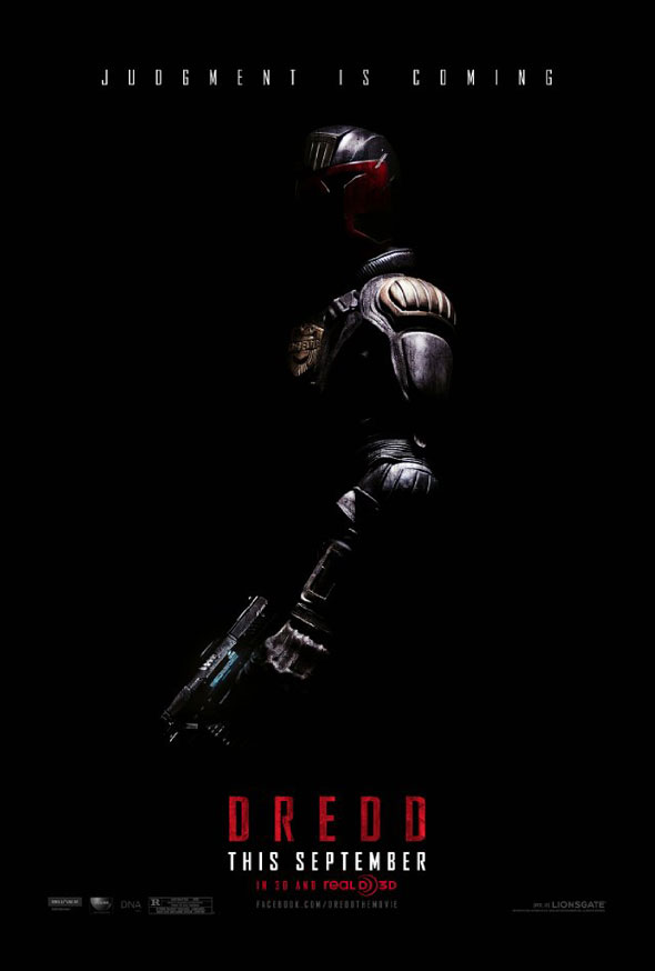 judge dredd 2012 movie poster