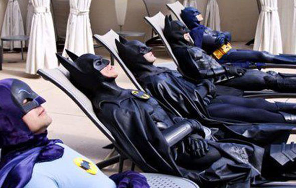 Batman Tan Party! Or what some call the Friday Internet Bulletin