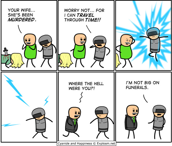 cyanide and happiness time traveler