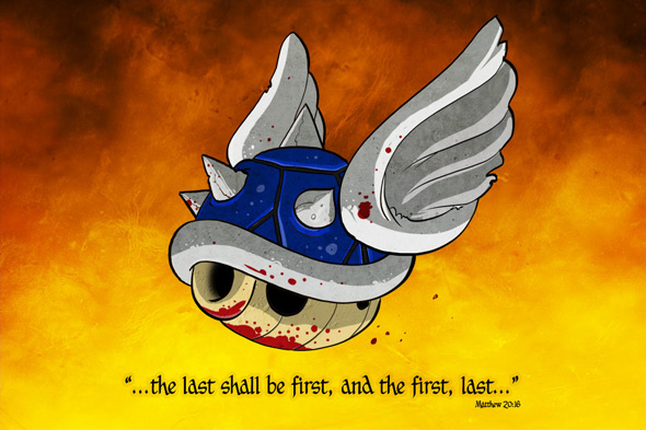 extra life blue shell mario kart
