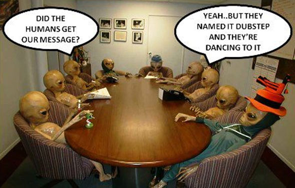 alien message dubstep