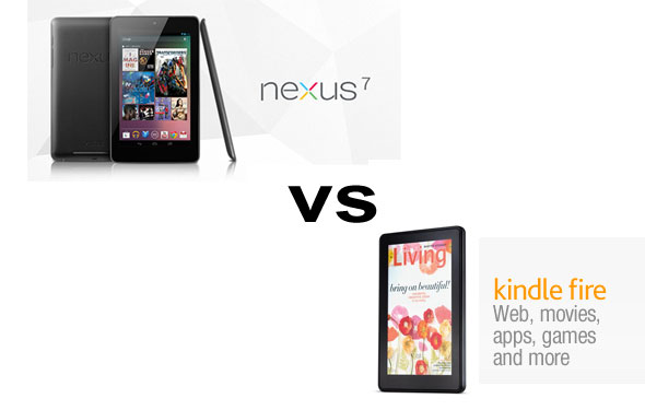 google nexus 7 vs amazon kindle fire