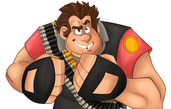 Wreck it Ralph meets Team Fortress 2 Heavy