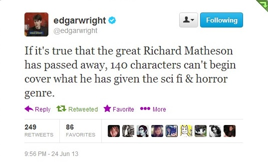 Edgar Wright Tweet