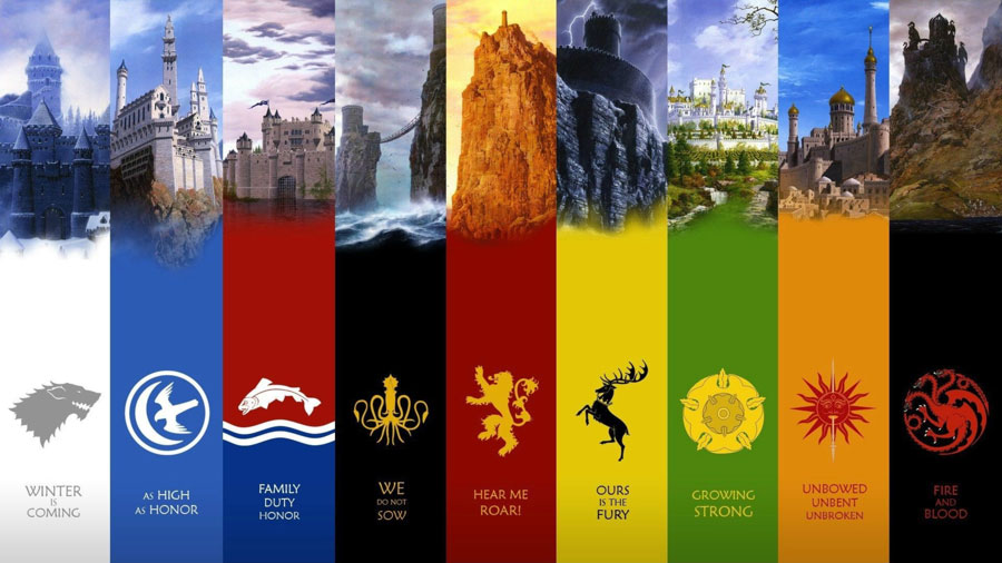 game of thrones coat of arms
