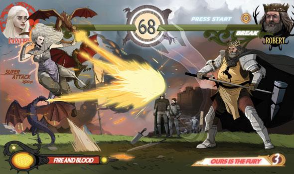 game of thrones fighting game daenerys vs robert