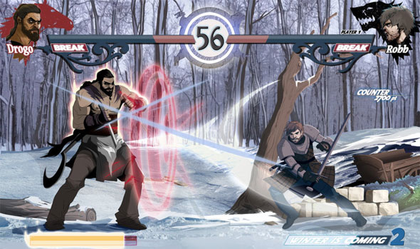 game of thrones fighting game robb vs drogo