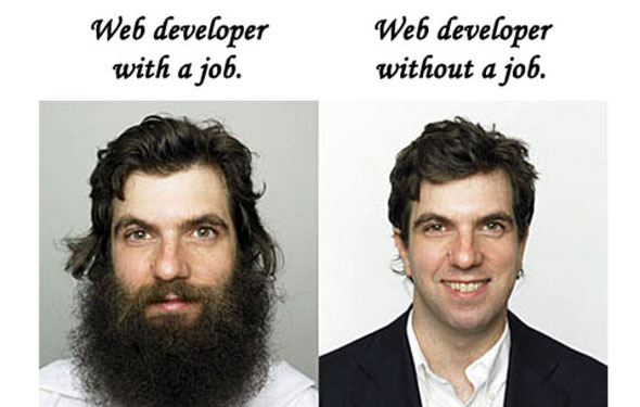 web developer with job