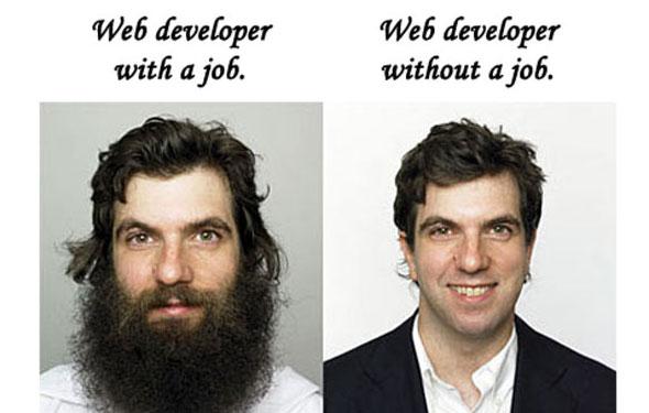 web developer with job