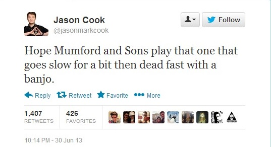 Mumford and Sons Tweet