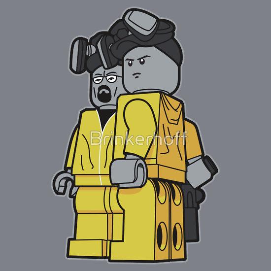 breaking bad lego t-shirt