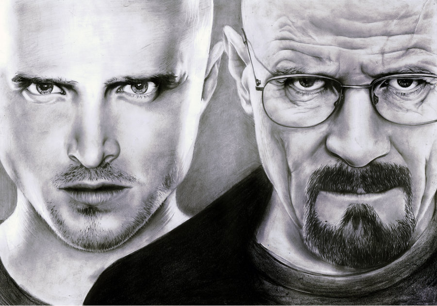 breaking bad black and white drawing