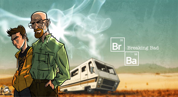 walter white jesse pinkman breaking bad art